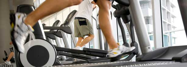 Laufband im Fitnessstudio