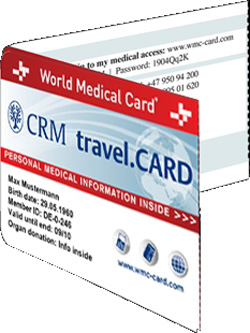 CRM travel.CARD - Auf Reisen immer dabei.
